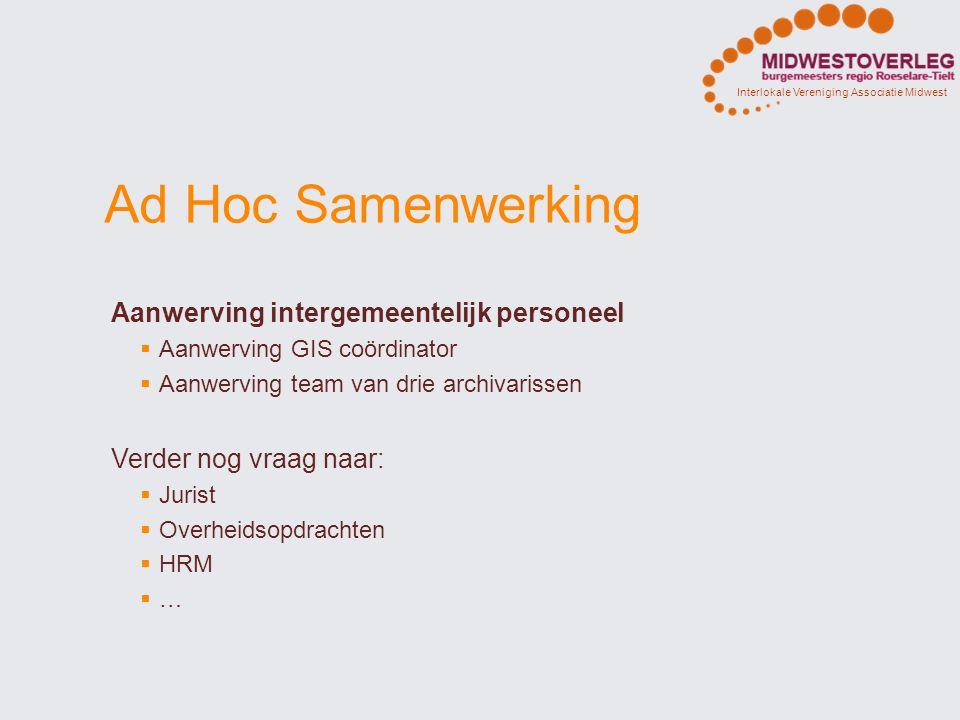 Ad Hoc Samenwerking Aanwerving intergemeentelijk personeel