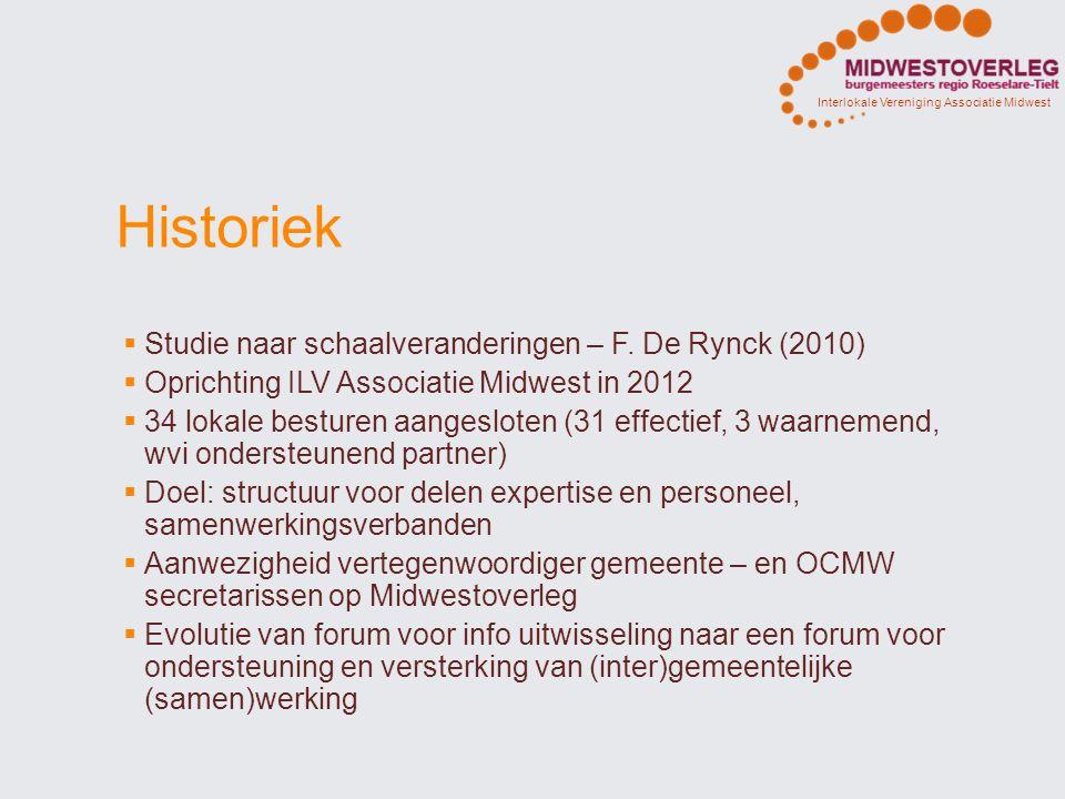 Historiek Studie naar schaalveranderingen – F. De Rynck (2010)