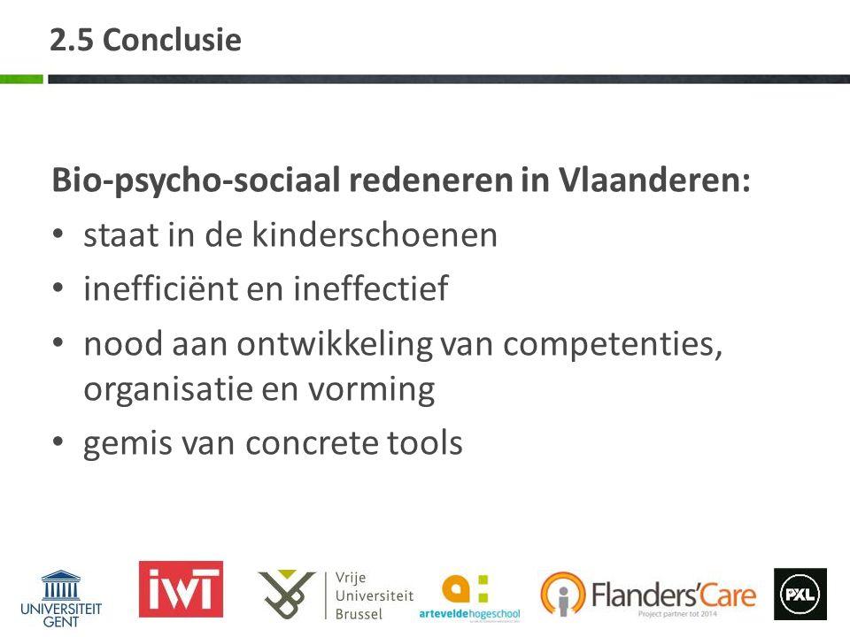 Bio-psycho-sociaal redeneren in Vlaanderen: staat in de kinderschoenen