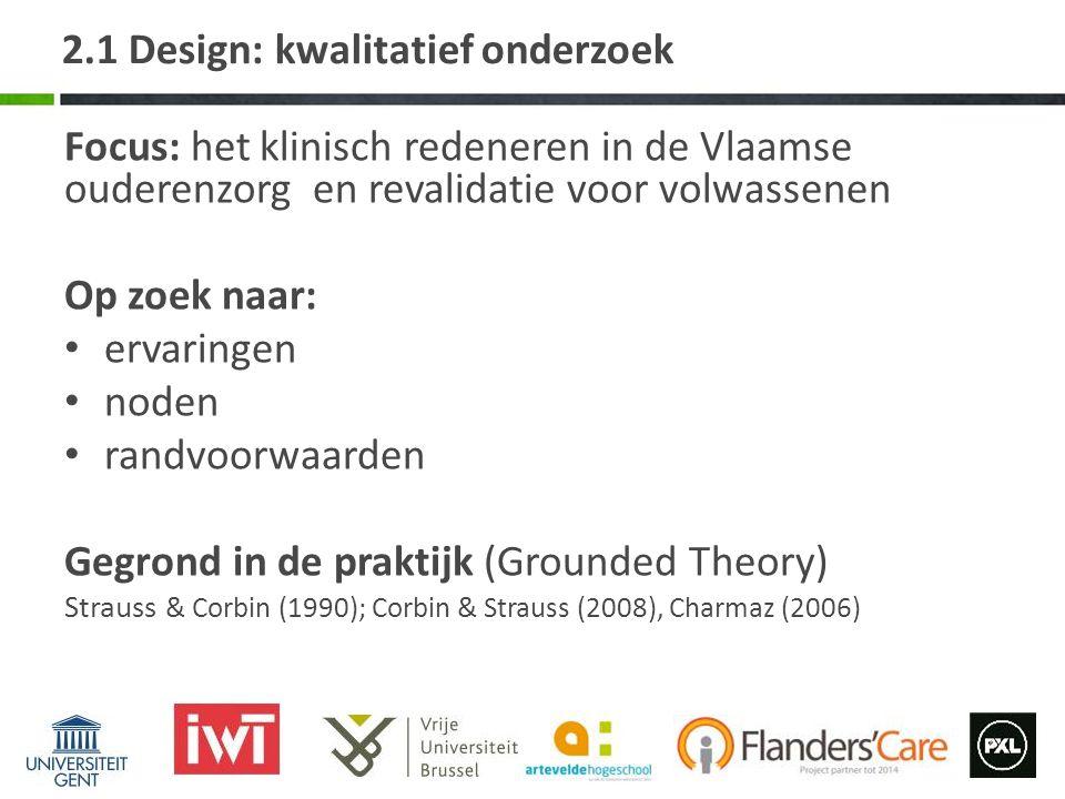 2.1 Design: kwalitatief onderzoek