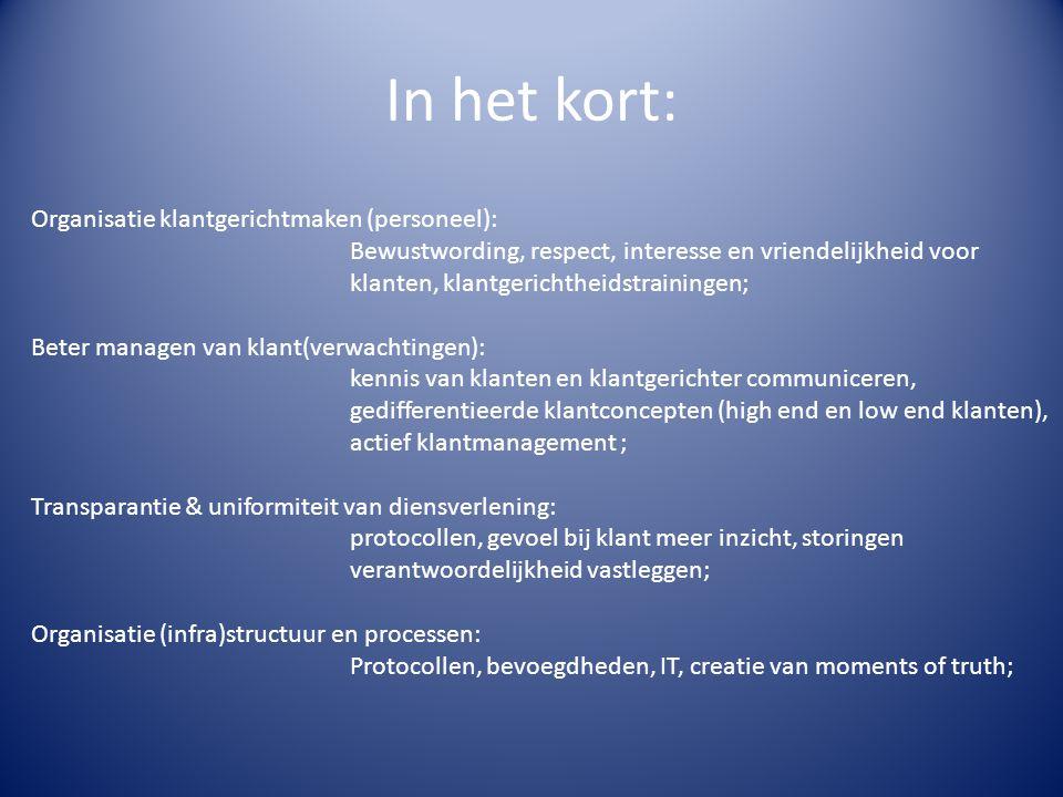 In het kort: Organisatie klantgerichtmaken (personeel):