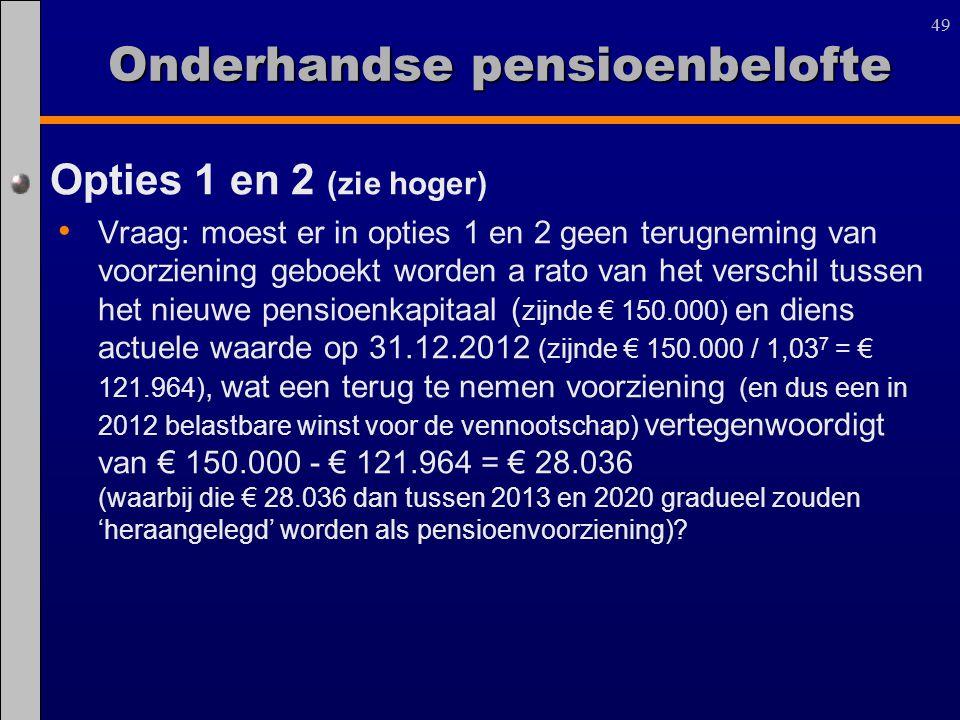 Onderhandse pensioenbelofte