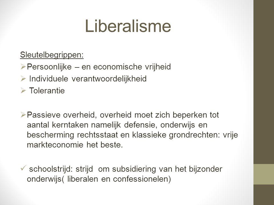 Liberalisme Sleutelbegrippen: Persoonlijke – en economische vrijheid