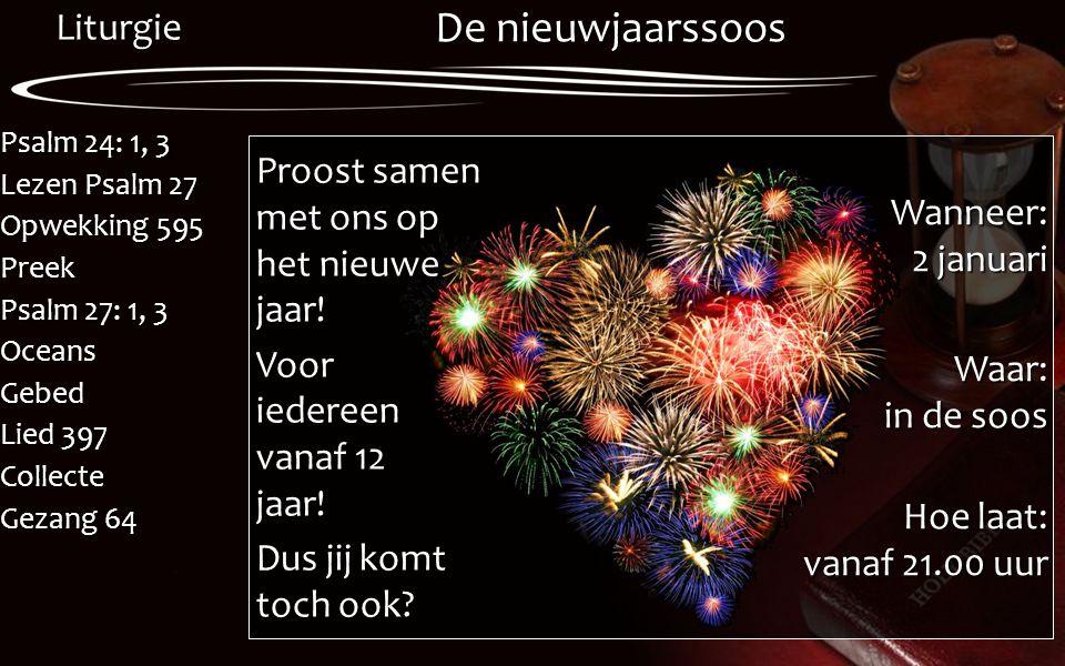 De nieuwjaarssoos Proost samen met ons op het nieuwe jaar!
