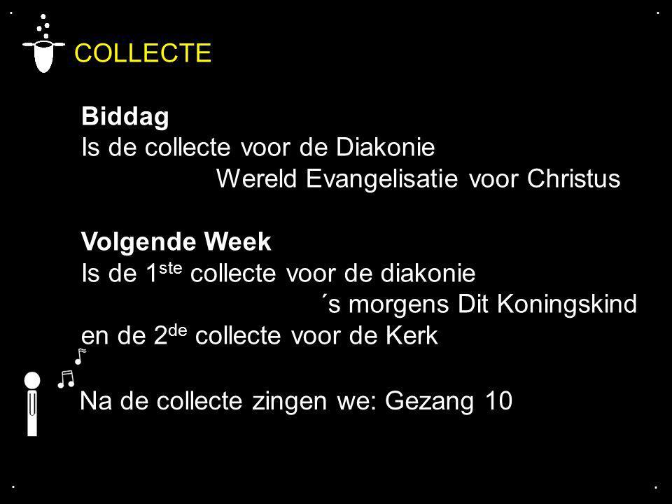 COLLECTE Biddag Is de collecte voor de Diakonie