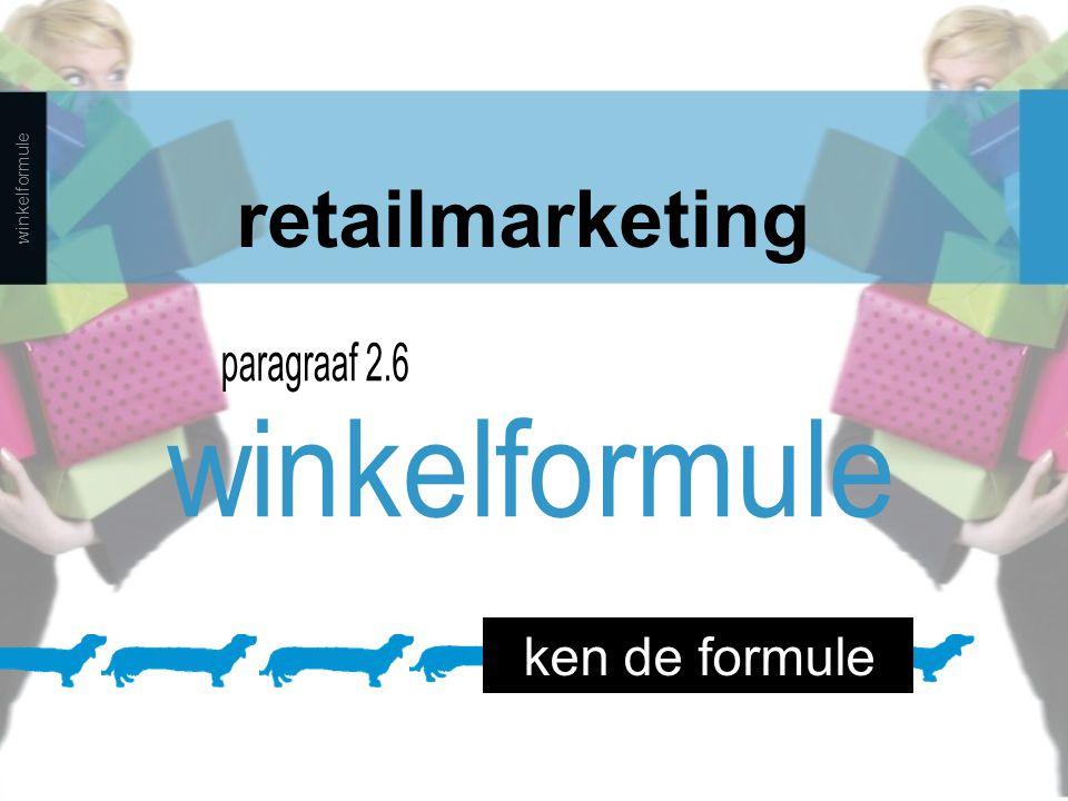retailmarketing paragraaf 2.6 winkelformule ken de formule