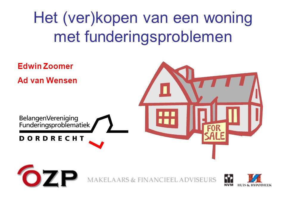 Het (ver)kopen van een woning met funderingsproblemen