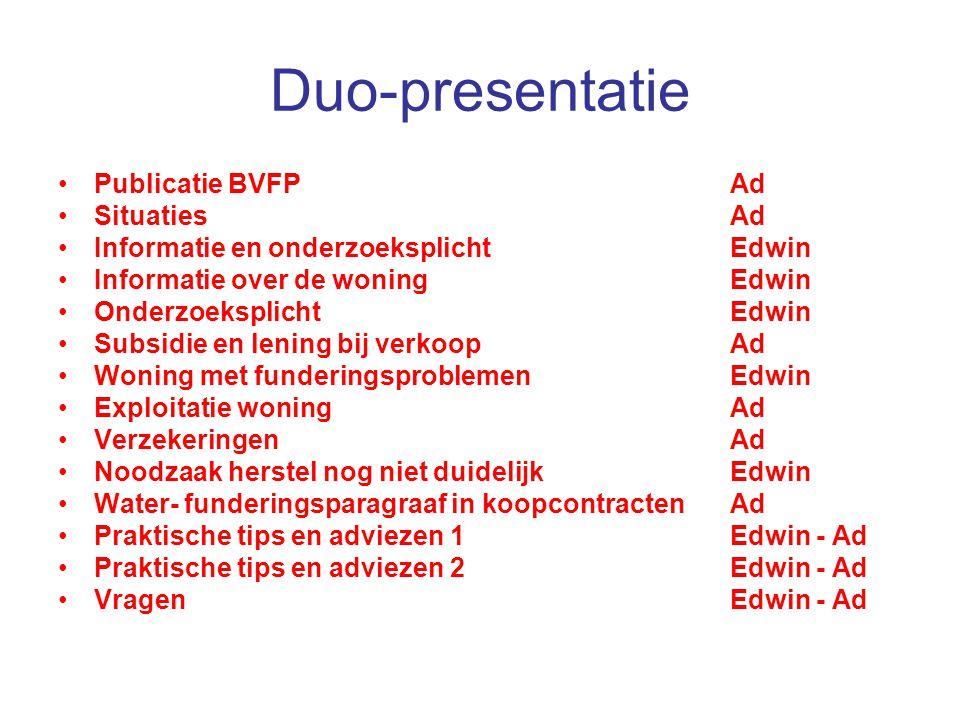 Duo-presentatie Publicatie BVFP Ad Situaties Ad