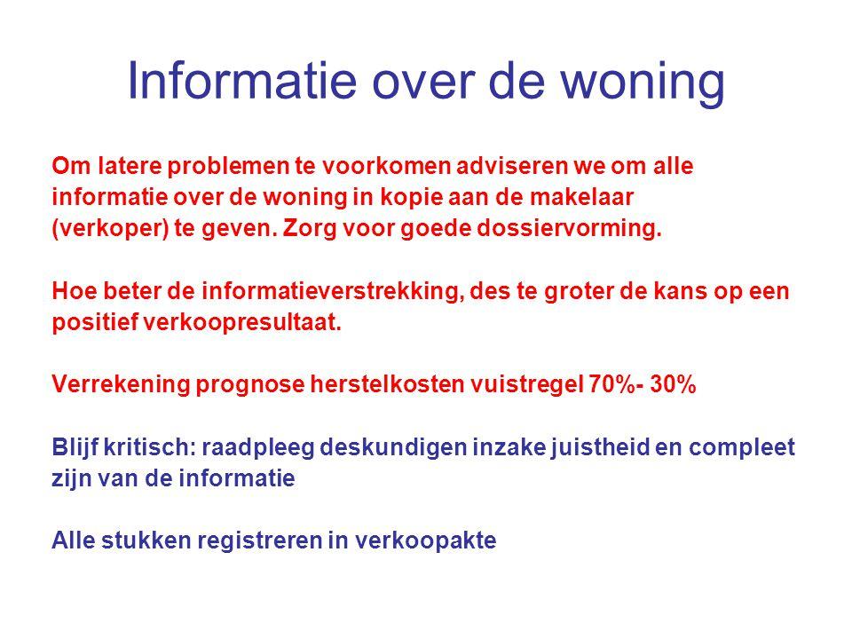 Informatie over de woning