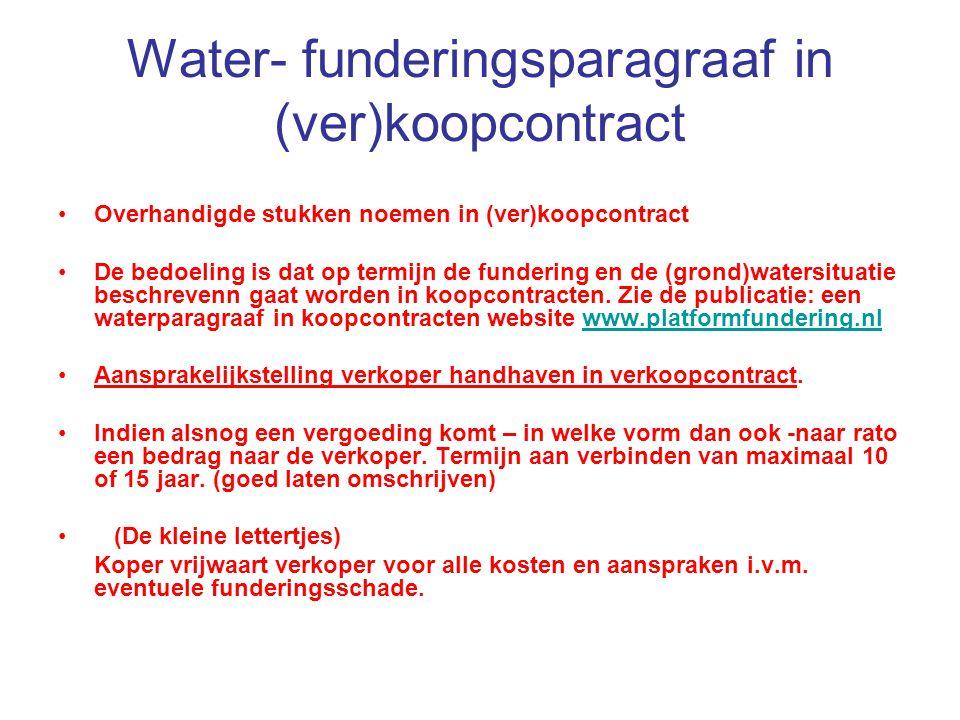 Water- funderingsparagraaf in (ver)koopcontract