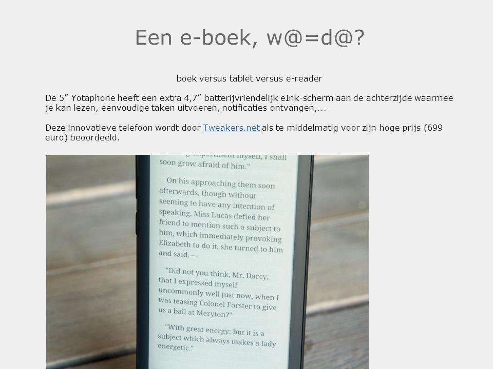 boek versus tablet versus e-reader