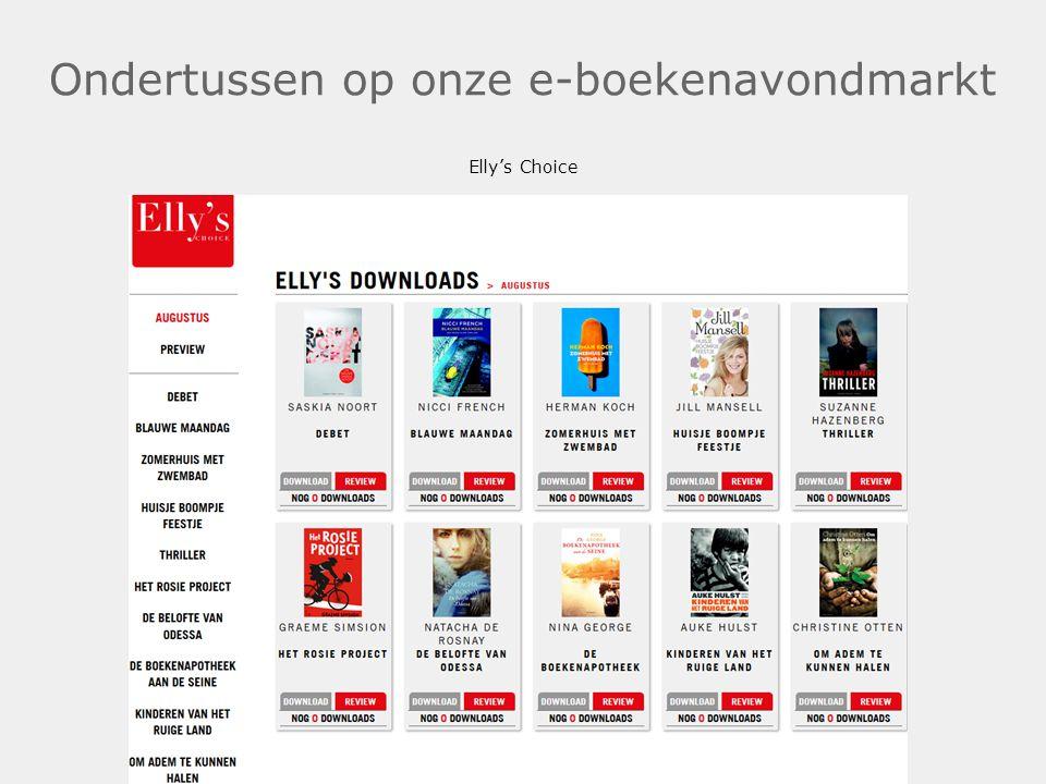 Ondertussen op onze e-boekenavondmarkt Elly's Choice .