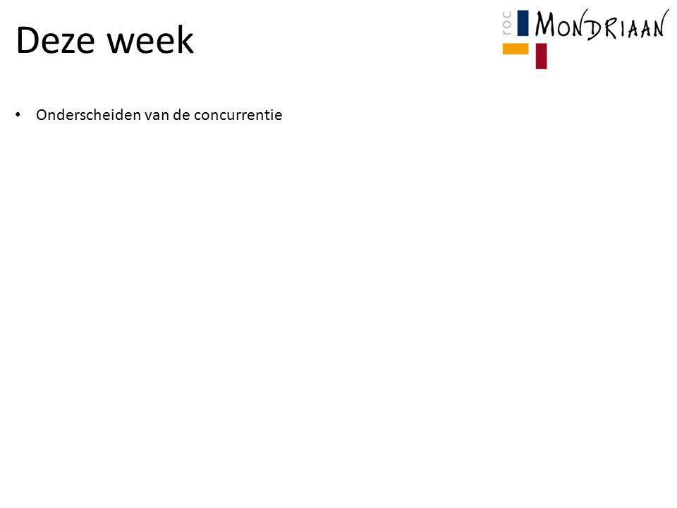Deze week Onderscheiden van de concurrentie