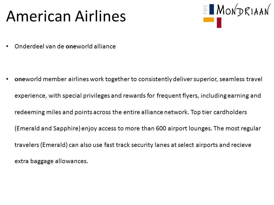 American Airlines Onderdeel van de oneworld alliance