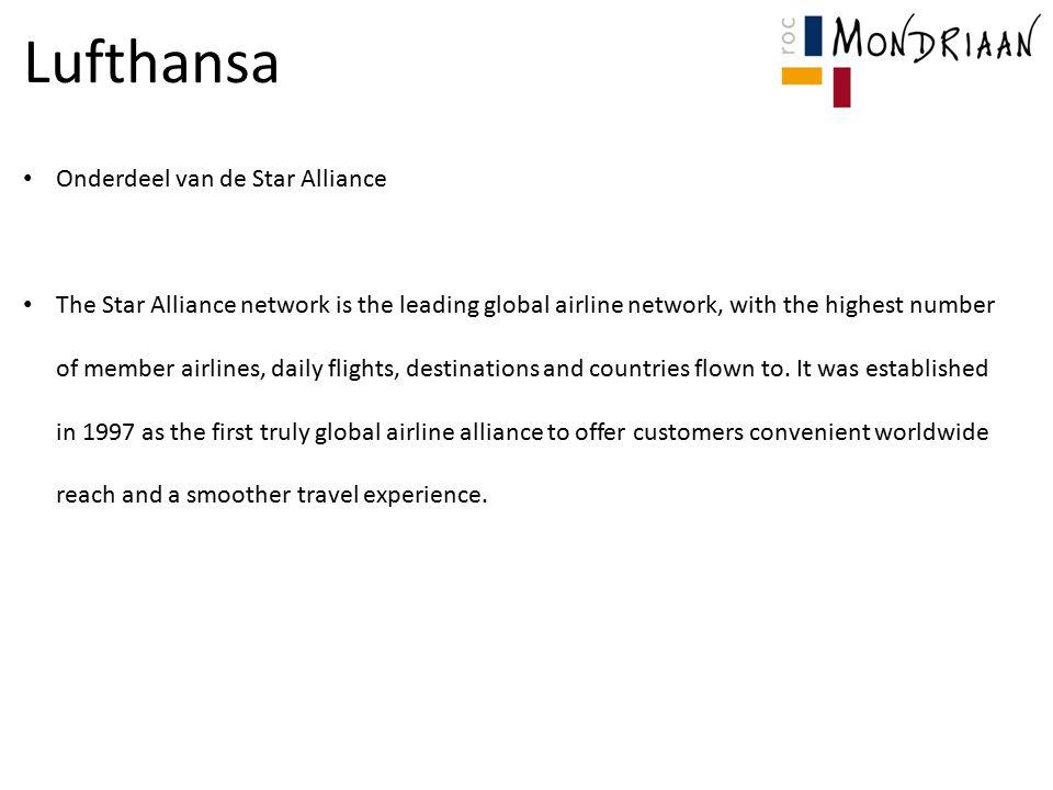 Lufthansa Onderdeel van de Star Alliance