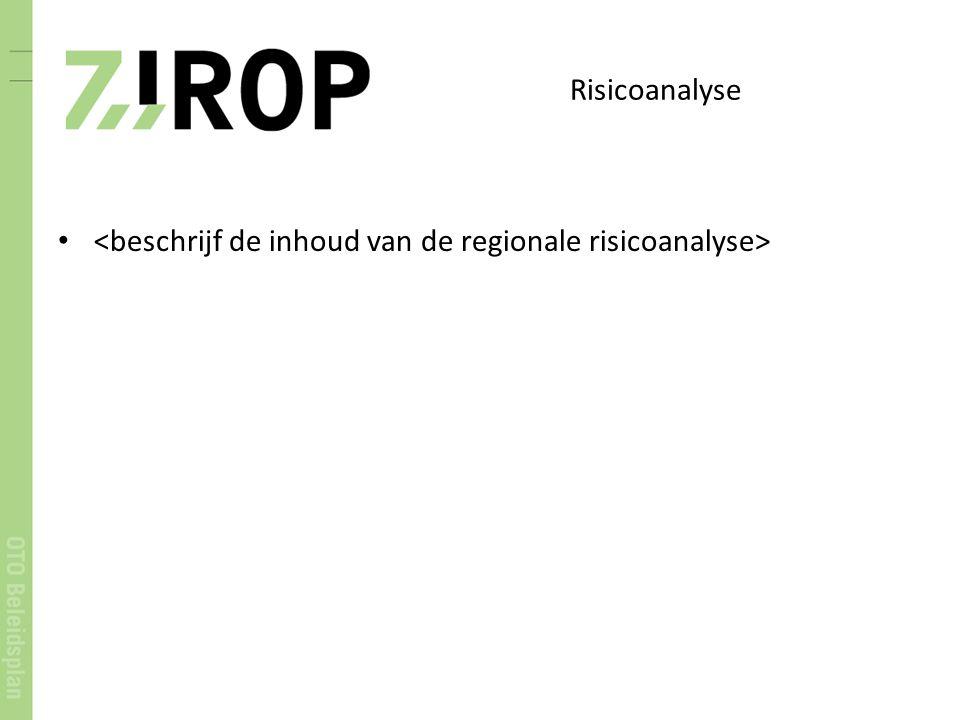 Risicoanalyse <beschrijf de inhoud van de regionale risicoanalyse>