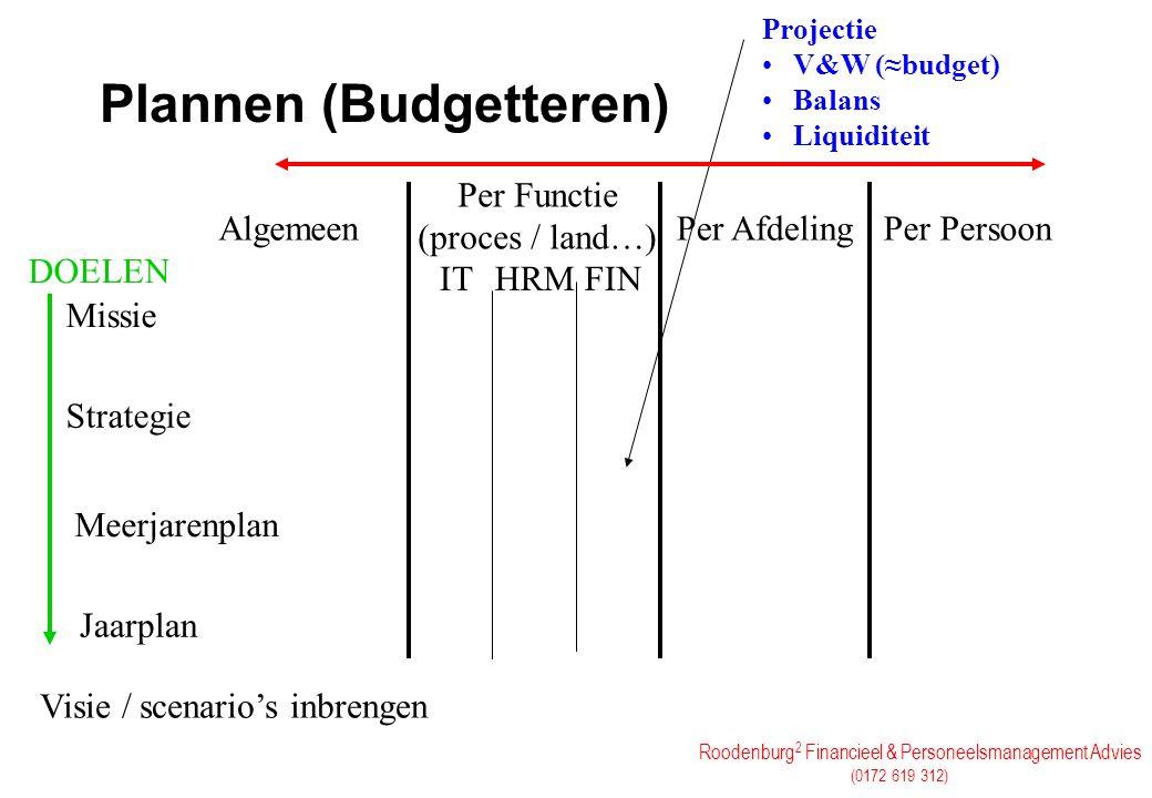 Plannen (Budgetteren)