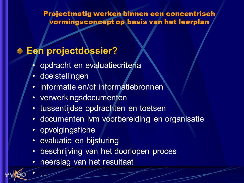 Een projectdossier opdracht en evaluatiecriteria doelstellingen