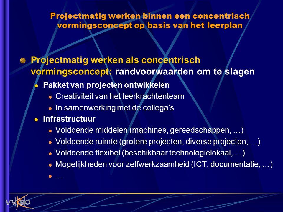 Projectmatig werken binnen een concentrisch vormingsconcept op basis van het leerplan