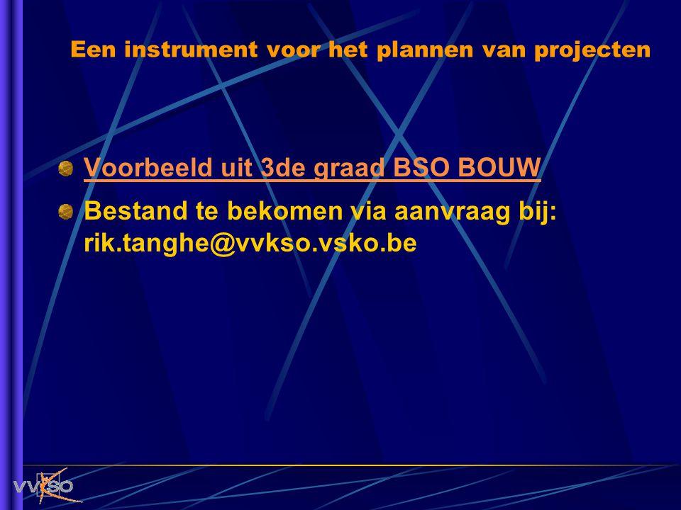 Een instrument voor het plannen van projecten