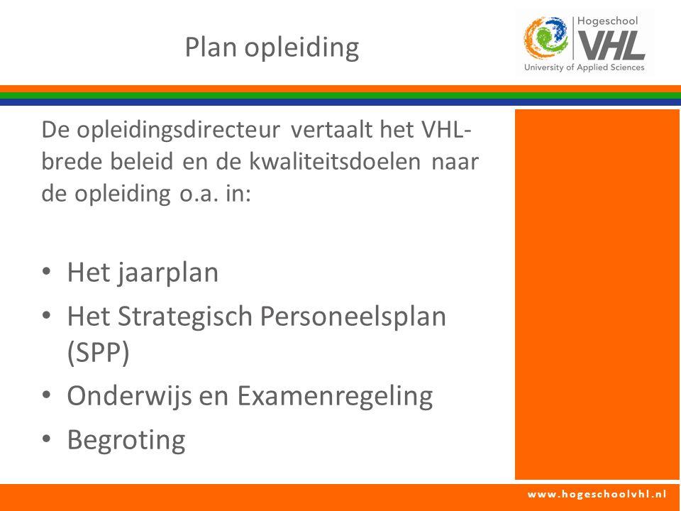 Het Strategisch Personeelsplan (SPP) Onderwijs en Examenregeling
