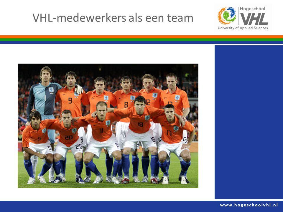 VHL-medewerkers als een team