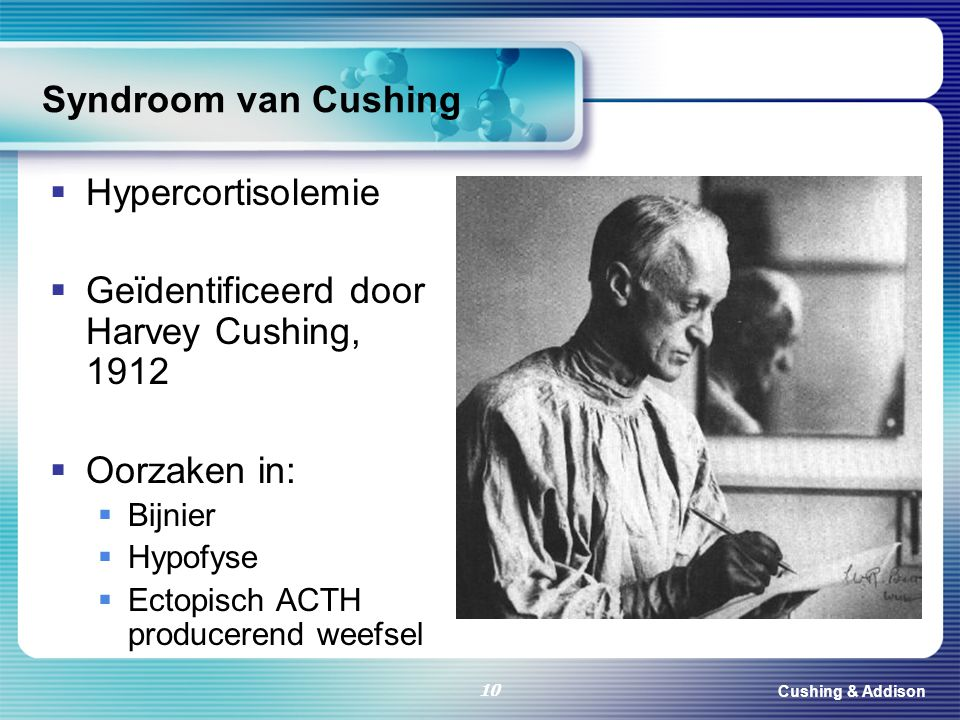 Geïdentificeerd door Harvey Cushing, 1912