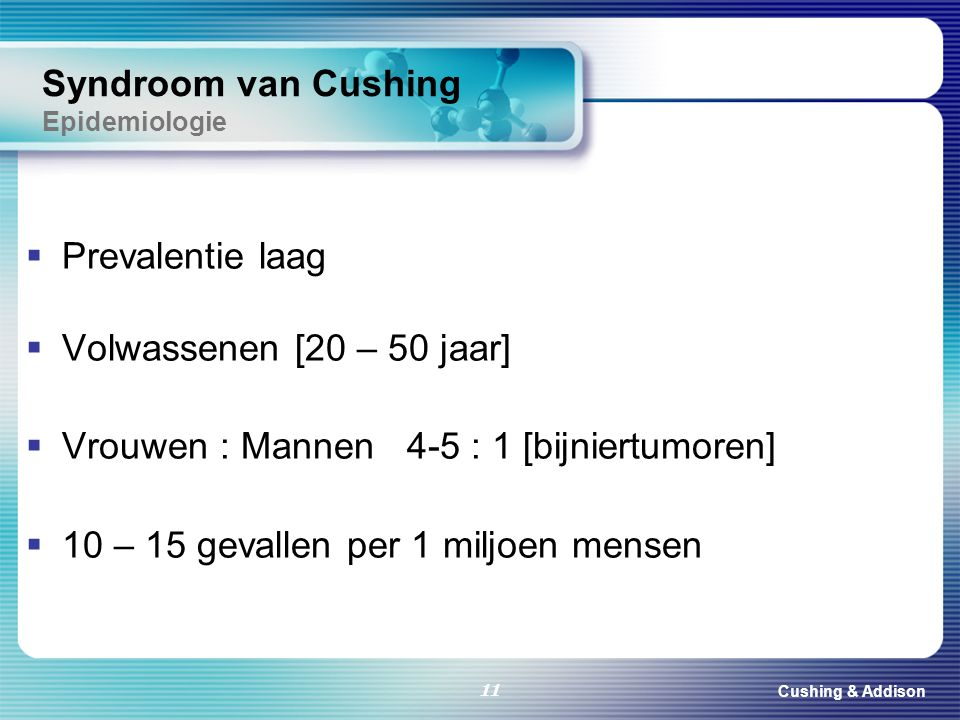 Syndroom van Cushing Epidemiologie
