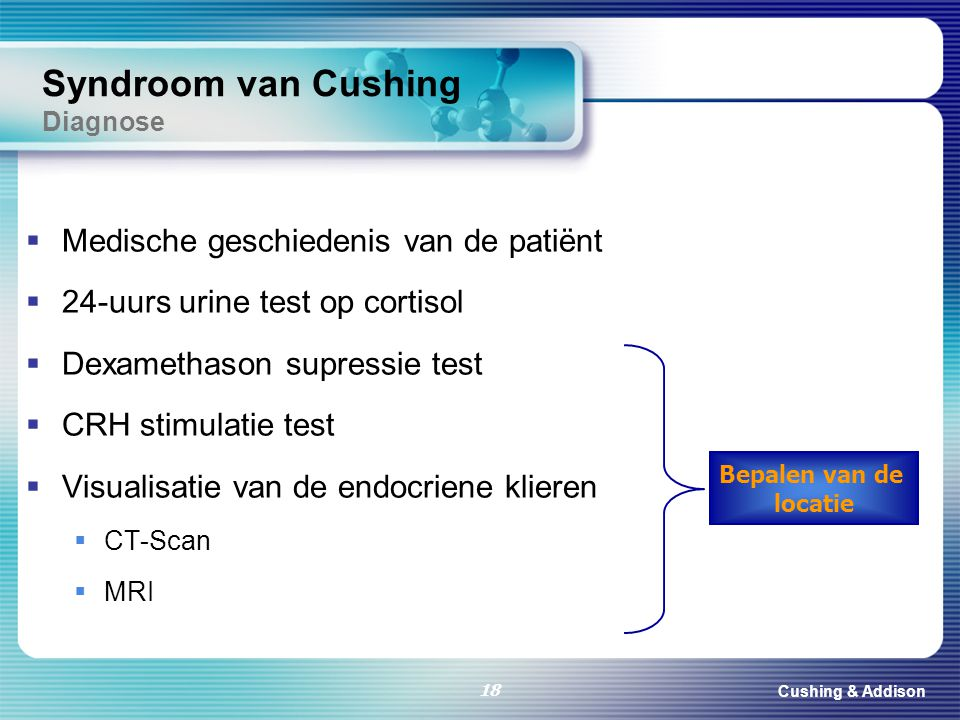 Syndroom van Cushing Diagnose