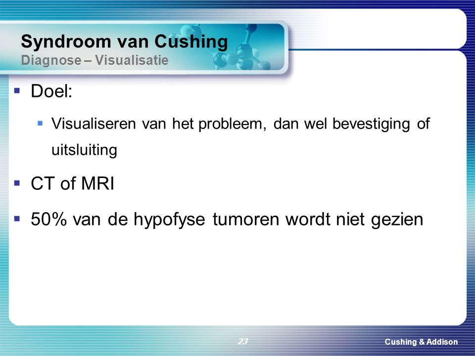 Syndroom van Cushing Diagnose – Visualisatie