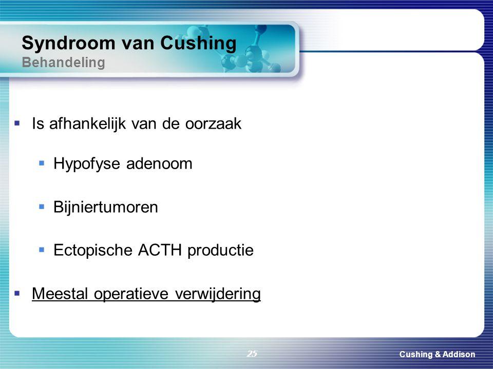 Syndroom van Cushing Behandeling