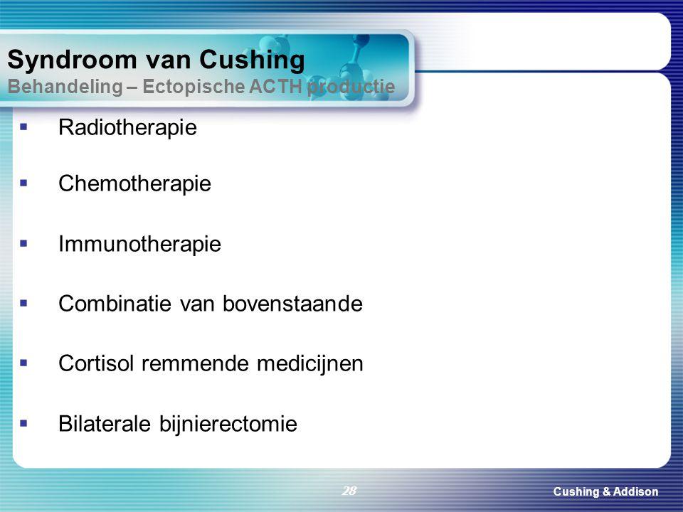 Syndroom van Cushing Behandeling – Ectopische ACTH productie