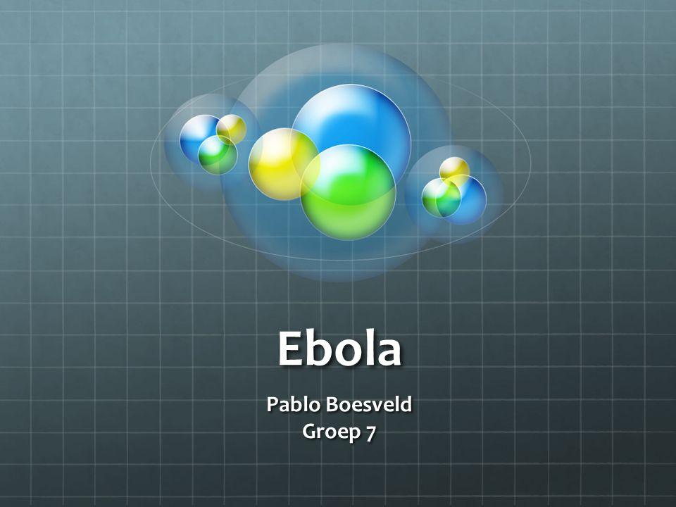 Ebola Pablo Boesveld Groep 7