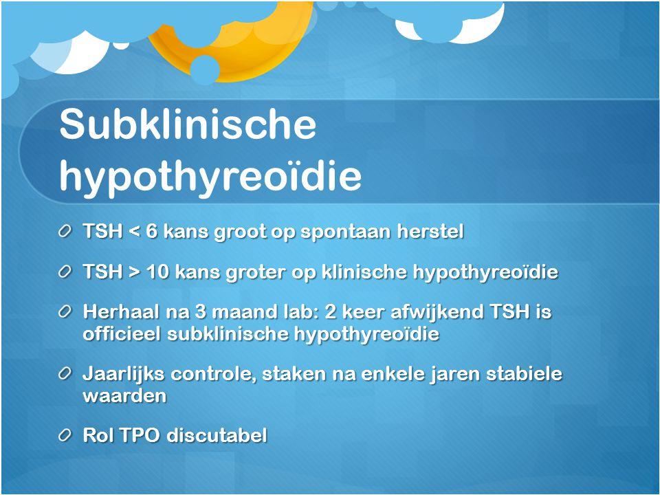 Subklinische hypothyreoïdie