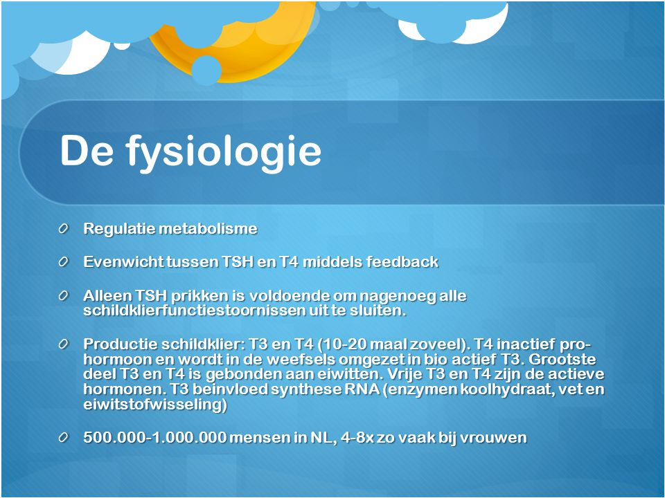 De fysiologie Regulatie metabolisme