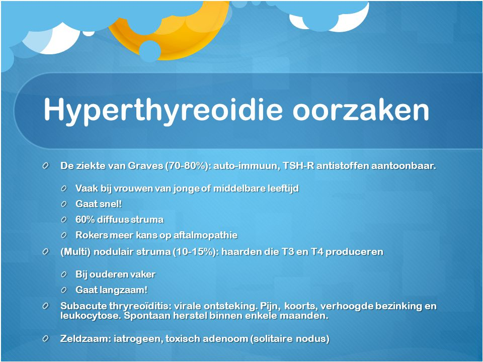 Hyperthyreoidie oorzaken