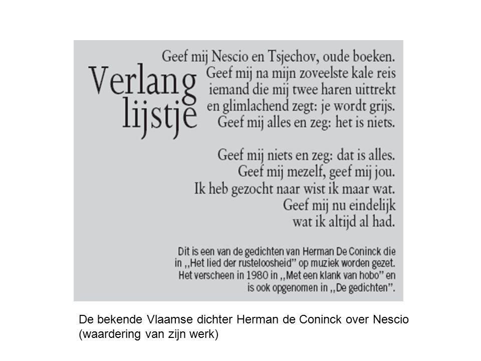 De bekende Vlaamse dichter Herman de Coninck over Nescio