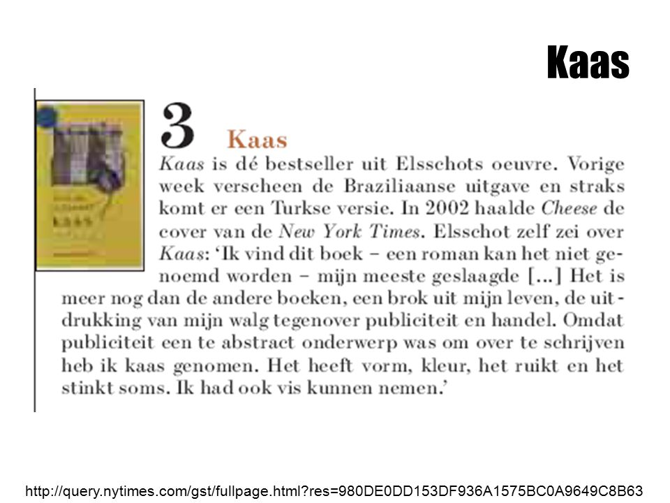 Kaas http://query.nytimes.com/gst/fullpage.html res=980DE0DD153DF936A1575BC0A9649C8B63