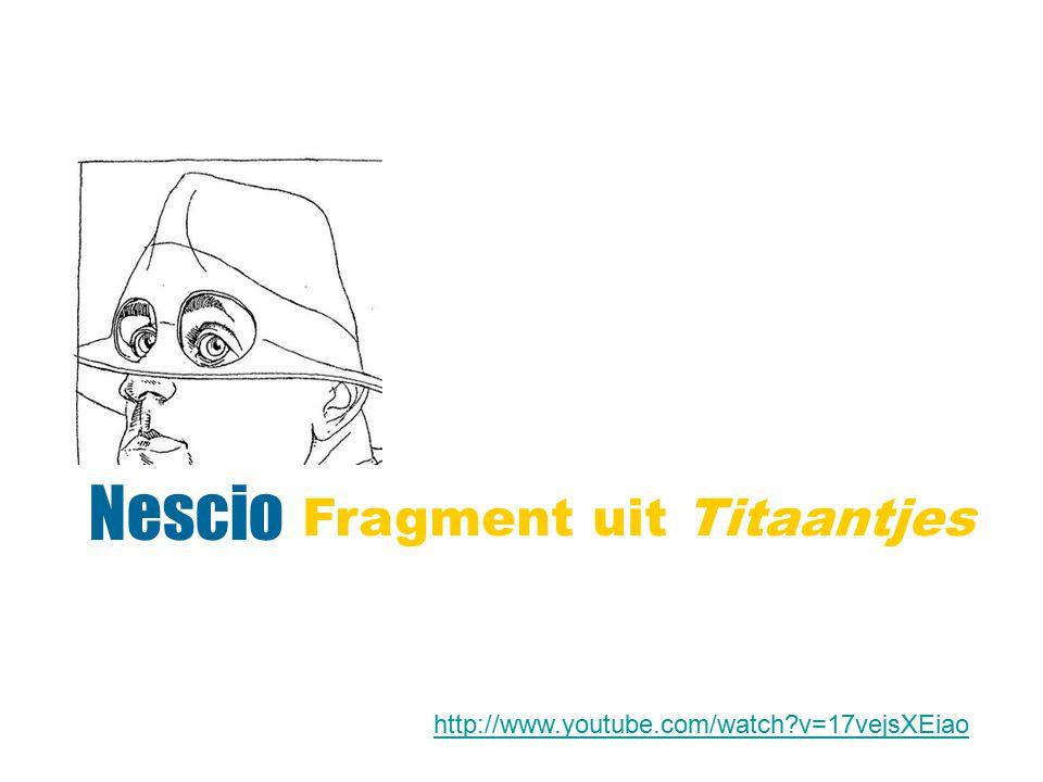 Nescio Fragment uit Titaantjes
