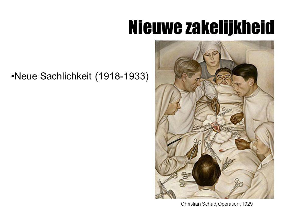 Nieuwe zakelijkheid Neue Sachlichkeit (1918-1933)