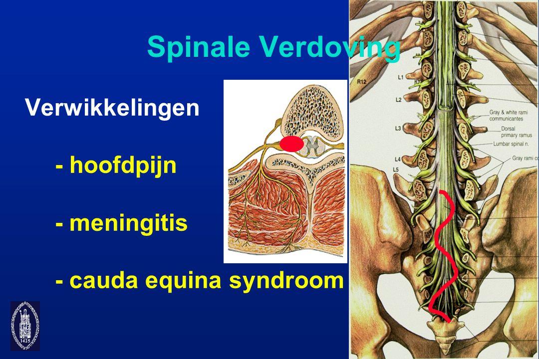 Spinale Verdoving Verwikkelingen - hoofdpijn - meningitis