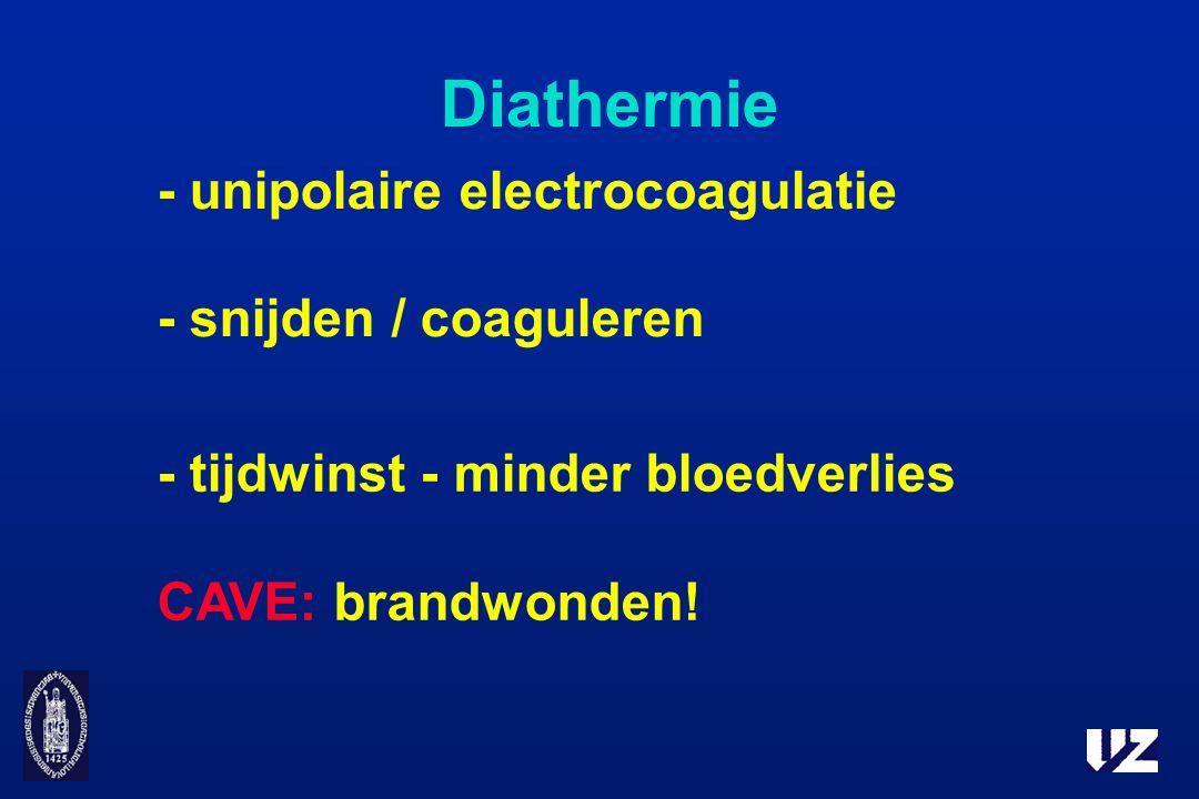 Diathermie - unipolaire electrocoagulatie - snijden / coaguleren