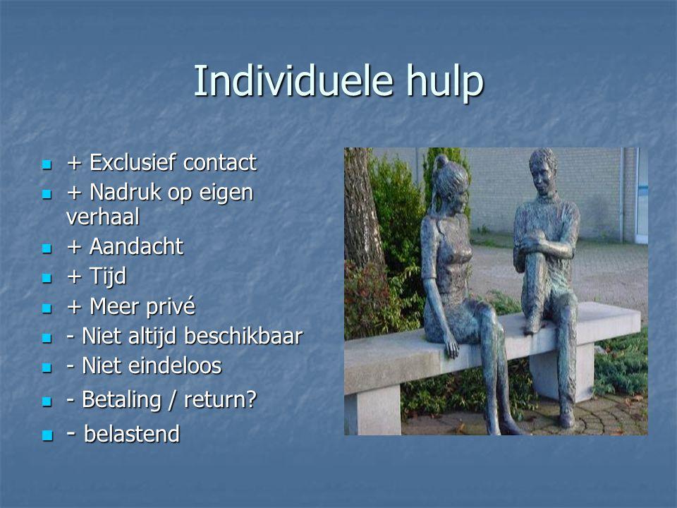 Individuele hulp - belastend + Exclusief contact