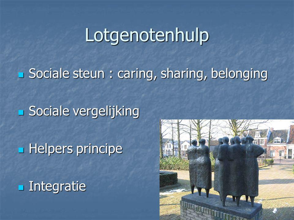 Lotgenotenhulp Sociale steun : caring, sharing, belonging