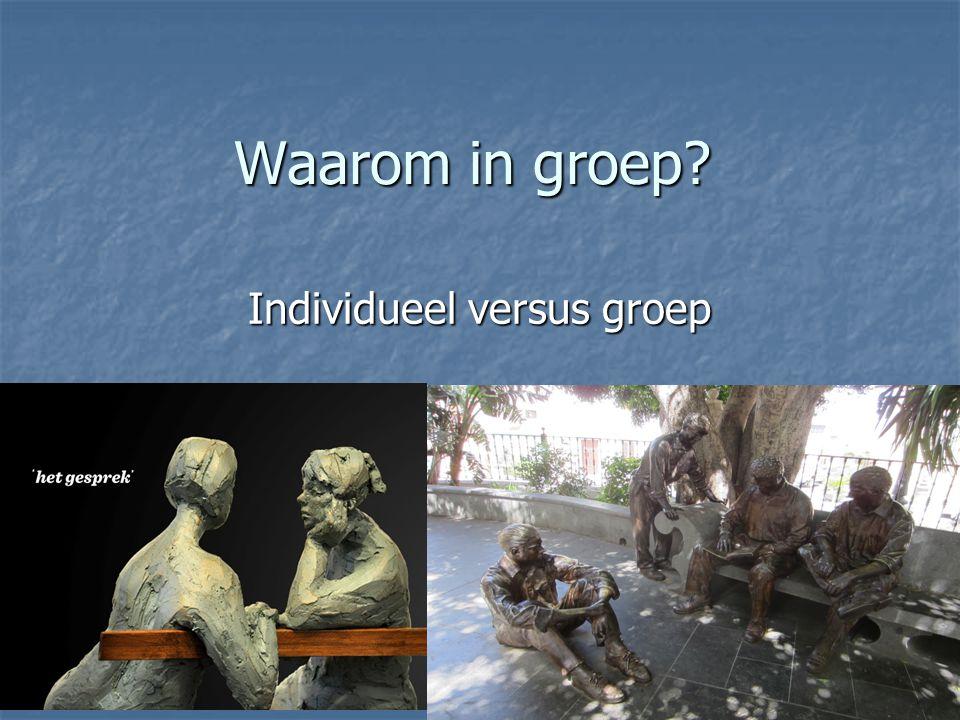 Individueel versus groep