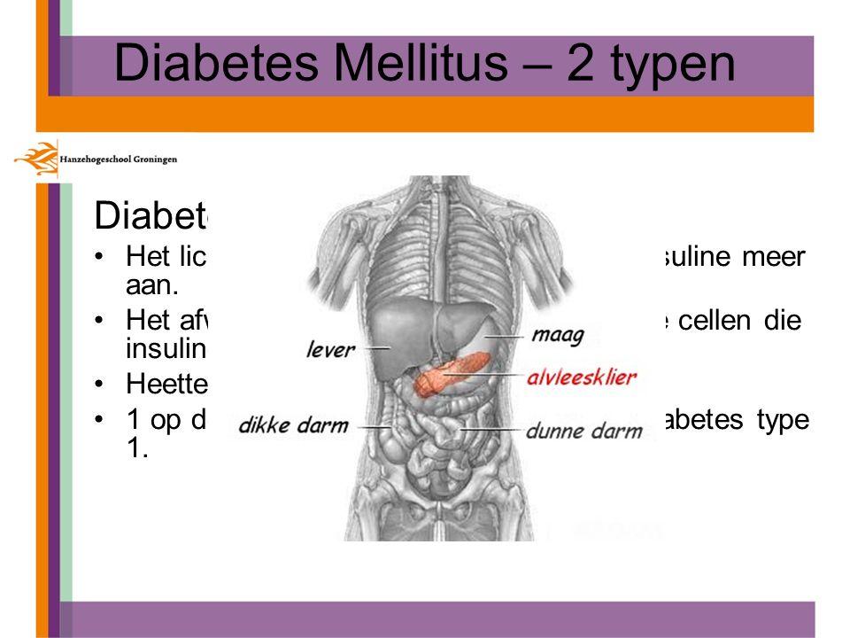 Diabetes Mellitus – 2 typen