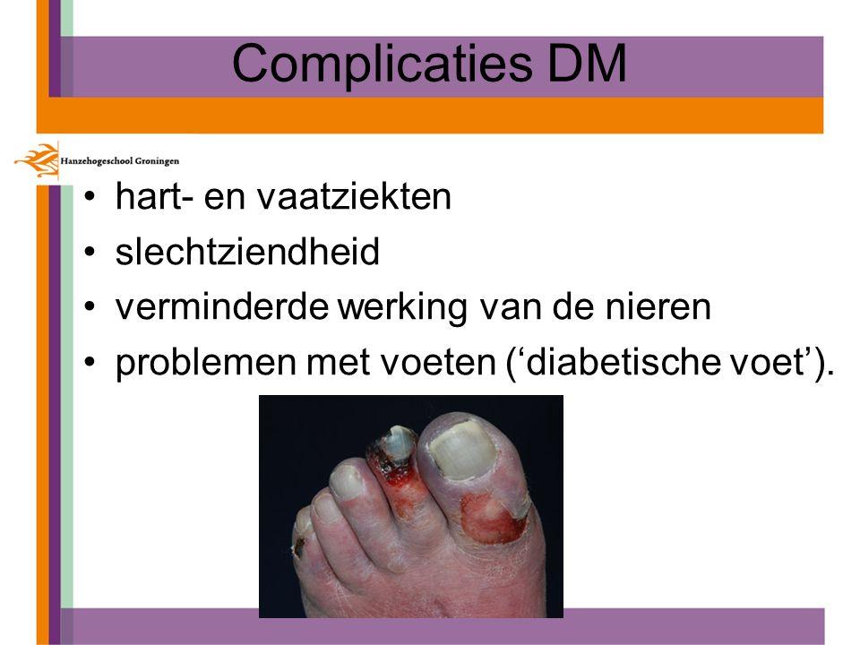 Complicaties DM hart- en vaatziekten slechtziendheid