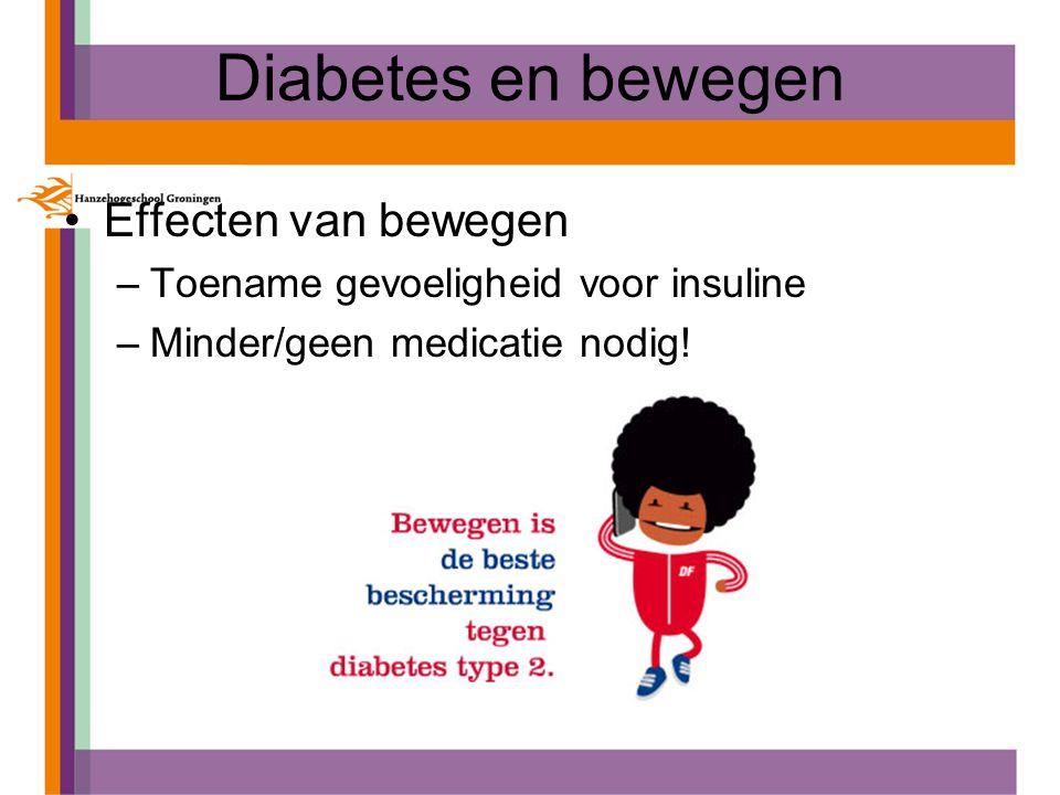 Diabetes en bewegen Effecten van bewegen