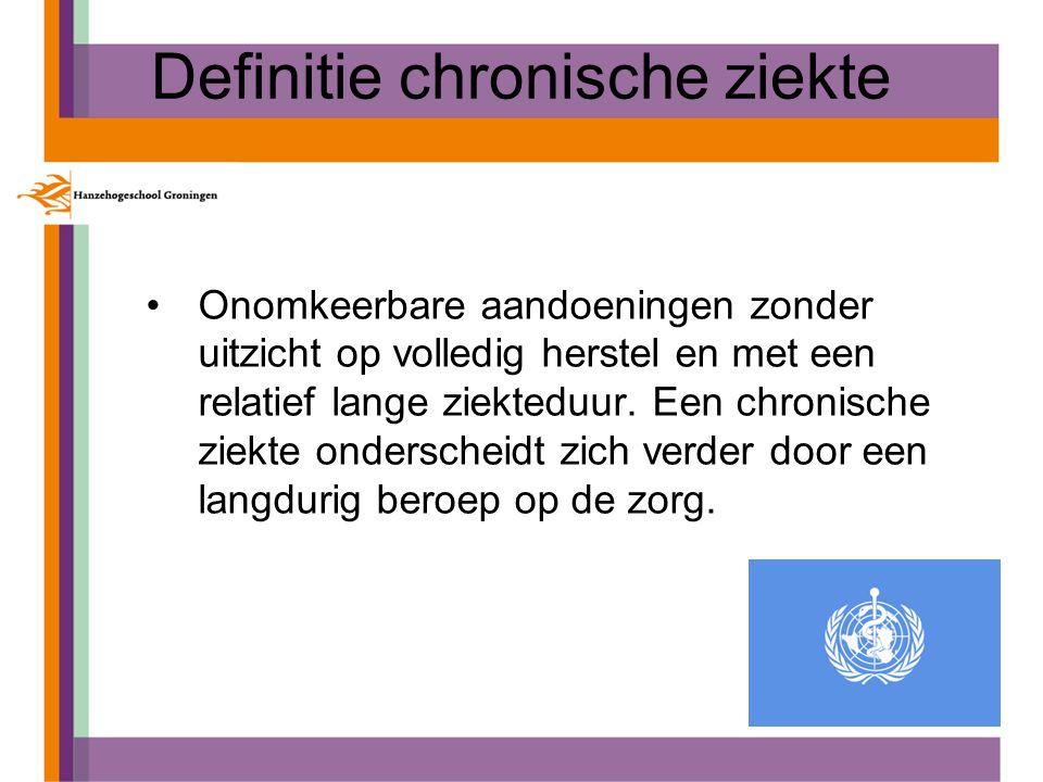 Definitie chronische ziekte