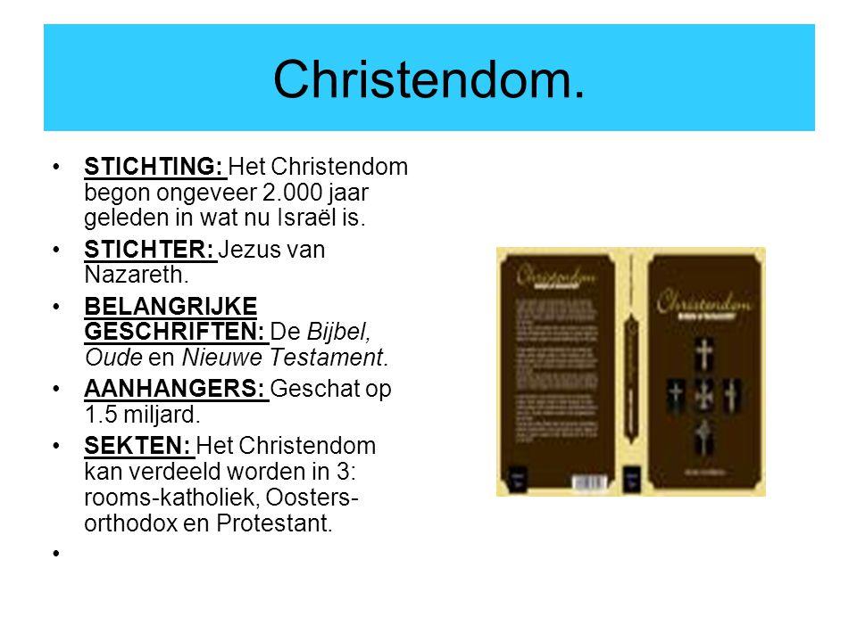 Christendom. STICHTING: Het Christendom begon ongeveer 2.000 jaar geleden in wat nu Israël is. STICHTER: Jezus van Nazareth.